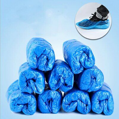 Blue Disposable Shoe Covers Anti Slip Plastic Cleaning Overshoes Cleaning Boot • 4.86£