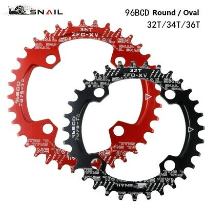 SNAIL Bike BCD 96mm Narrow Wide Round Oval Chainring Ring 32 - 36T Tooth Chain • 8.99£