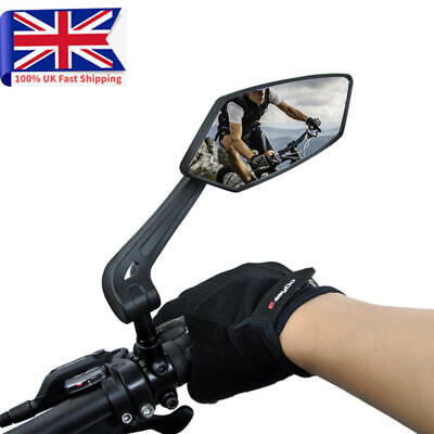 Bicycle Handlebar Review Rear Back View Mirror Adjustable For Mountain Road Bike • 14.99£