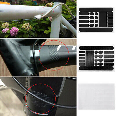 Bicycle Frame Protection Sticker Set Bike Chain Stay Protectior Kit PVC UK Stock • 2.41£