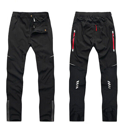 Men Cycling Pants Windstopper MTB Bike Casual Reflective Riding Trousers Sports • 18.99£