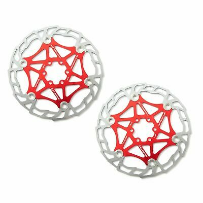 Clarks Red MTB Floating Disc Brake Rotor Alloy 7075, 180mm (2 Rotors) AR05-180 • 24.99£