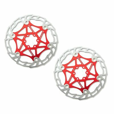 Clarks Red MTB Floating Disc Brake Rotor Alloy 7075, 203mm (2 Rotors) AR05-203 • 29.99£