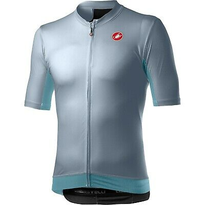 Castelli Vantaggio Jersey LARGE VORTEX/GREY/WINTER SKY# • 25£