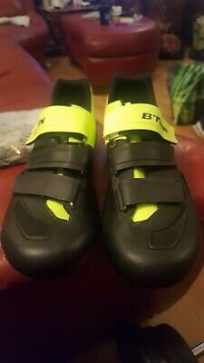 BNWT Genuine BTWIN Cycling Shoes Size UK 10-5 Road Black / Green NEW!!!! • 55£