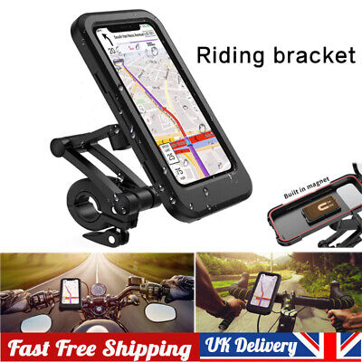 360° Bicycle Motor Bike Waterproof Phone Case Mount Holder For All Mobile Phones • 12.99£