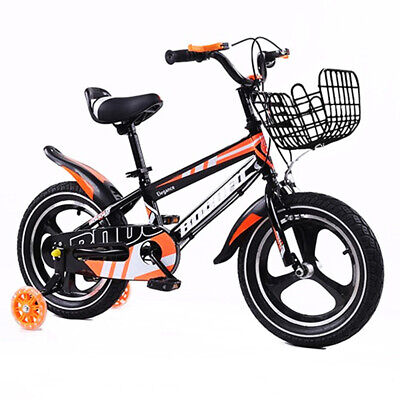 Kidisa™ Children's Black Bike Bicycle With Removable Stabilisers 14 Inch Uk • 59.98£