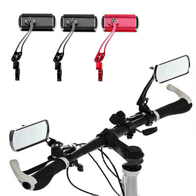 2 Pack Bicycle Mirror Bike Cycling Handlebar Rear View Rearview Rectangle Back • 8.42£