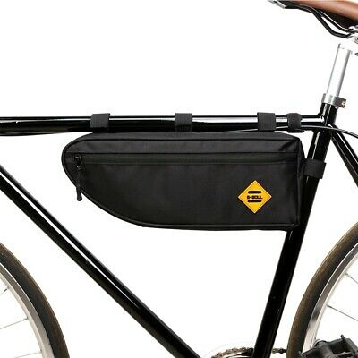 Bicycle Triangle Bag Bike Frame Front Tube Bag Waterproof Large Capacity Pouch • 7.99£