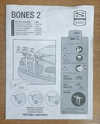 Saris Bones 2 Car Bike Rack • 31£