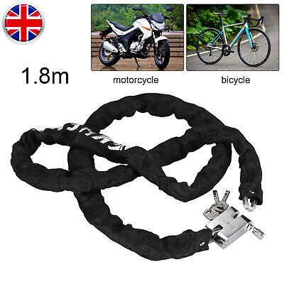 Heavy Duty Strong Motorcycle Motorbike Bike Security Chain And Padlock Lock • 11.69£