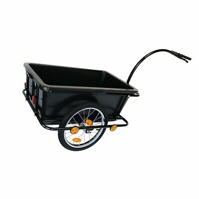 NEW! Bike Trailer Trolley With Coupling & Pneumatic Tyre 90L Cargo • 57.99£