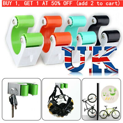 Bicycle Parking Rack Buckle Road Mountain Bike Wall Mount Hook Bike Storage • 5.99£