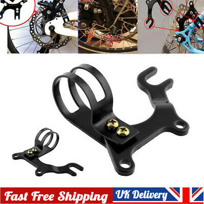 Adjustable Black Bicycle Bike Disc Brake Bracket Frame Holder Adaptor Mount • 3.79£