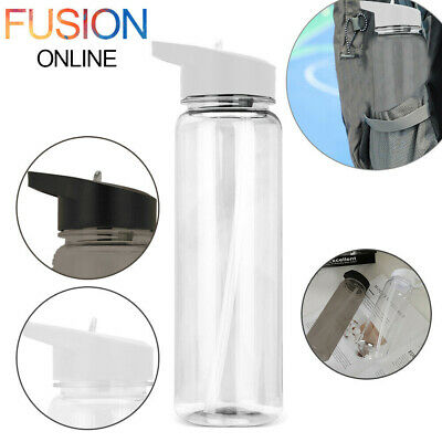 Sports Water Bottle 750ml Gym Travel Clear BPA Free Leakproof Drinking Bottles • 6.99£