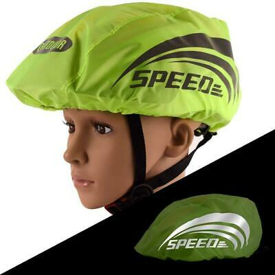 1* Waterproof Bicycle Helmet Cover With Reflective Cycling Cover Bike Green E5N5 • 3.16£