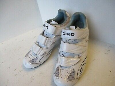 Giro Sante II SPD SPD-SL White Road Cycling Shoes EU40 Excellent Condition • 18.99£