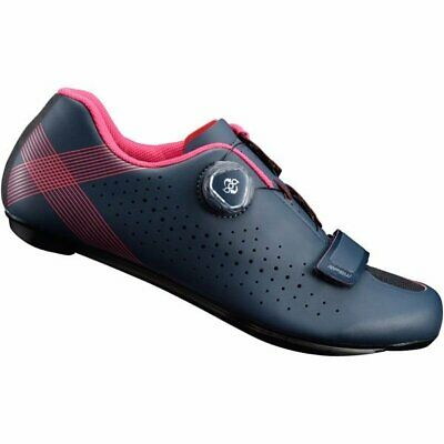 Shimano RP5W Boa Carbon Road Cycling Shoes SPD-SL Womans Fit EU40 Blue NEW • 74.99£