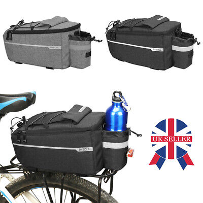 Waterproof Bicycle Bike Seat Rear Bag Pannier Rack Pack Cycling Carrier Pouch UK • 9.88£