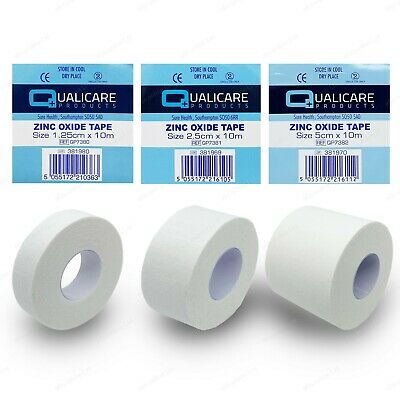 Zinc Oxide White Tape Roll | Medical Injury Fitness Strapping Sports Binding • 4.98£