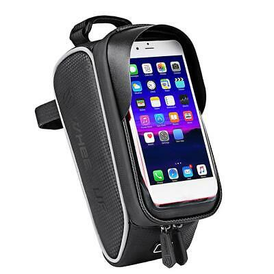 Wheelup Waterproof Mountain Bike Frame Front Bag Bicycle Mobile Phone Holder Bag • 8.98£