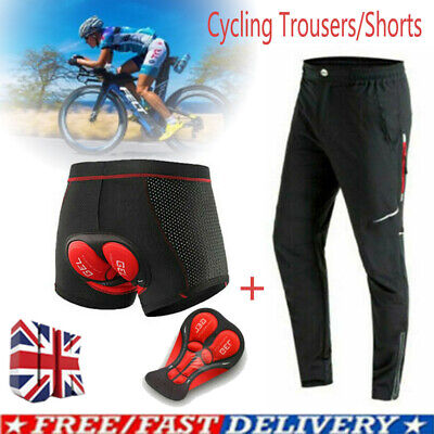 Cycling Pants+5D Gel Padded Shorts Bicycle Underwear Trousers Mountain Bike UK • 14.99£