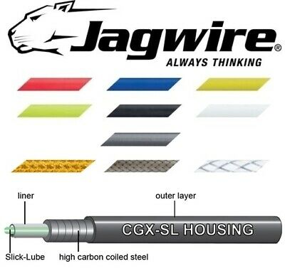 JAGWIRE Pre Lubricated Bike Brake Outer Cable Various Colours With End Caps 1M • 2.75£