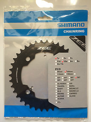 Shimano Zee Single Speed Chainring 38T 104mm BCD FC-M640 • 17.99£