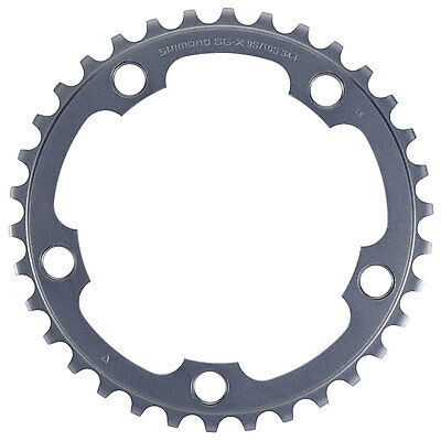 Shimano Ultegra FC-6750 G 34T Chainring 2x10 Speed, 50-34T, 110mm BCD, Grey • 13.99£