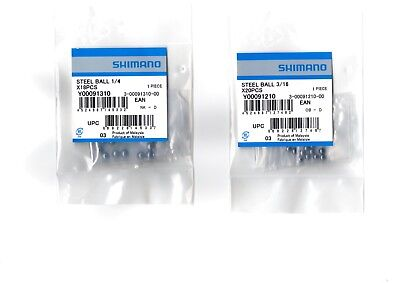 Shimano Ball Bearings Front Or Rear Wheel/Hub - All Sizes - 3/16  & 1/4  • 4.49£