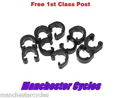 Pack Of 10 C-Clips For Road & Mountain Bike Gear Or Brake Cable Frame Guide Clip • 2.99£