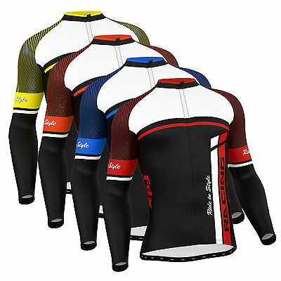 FDX Mens Cycling Jersey Long Sleeve Winter Thermal Cold Wear  Cycling Jacket • 19.85£