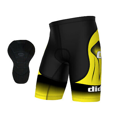 Didoo Mens Cycling Shorts Fitness Boxers Gym Tight Fit Pants Pro Coolmax Padded • 15.05£