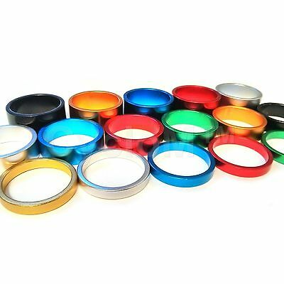 Headset Spacers 1 1/8 Bicycle Bike Cnc Machine Light Alloy 5 10 15 Fixie Bmx Mtb • 1.95£