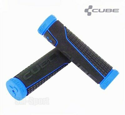 Cube Bikes MTB / Mountain Bike Handlebar Grips, Black-Blue, Performance Series • 12.99£