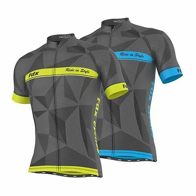 FDX Mens Classic Cycling Jersey Breathable Half Sleeve Lightweight Biking Tops  • 21.99£