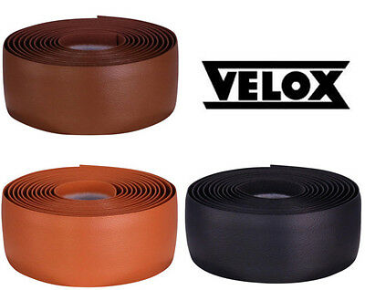 Velox Leather Look Classic Bar Tape In Black/Brown/Honey/White Road Bike • 10.49£