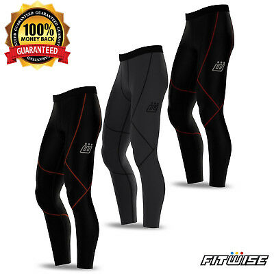 Mens Compression Cycling Tights Winter Thermal Leggings Cycle MTB Pants Trousers • 11.27£