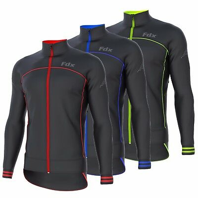 FDX Mens Cycling Jacket Wind Stopper Thermal Softshell Breathable Running Jacket • 25.85£