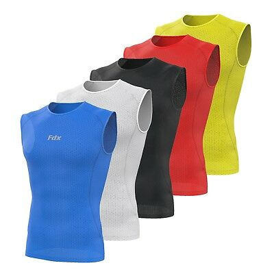 FDX Mens Sleeveless Cool Mesh Base Layer Lightweight Running Fitness Cycling Top • 11.85£