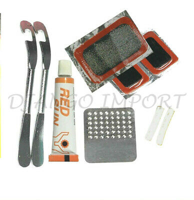 Bicycle Puncture Repair Kit Bike Tyre Patches Glue Inner Tube Puncher Set UK • 5.49£