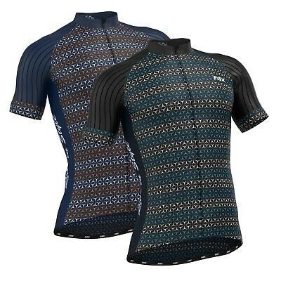 FDX Race Fit Mens Cycling Jersey Short Sleeve Breathable Summer Bike Cycling Top • 20.99£
