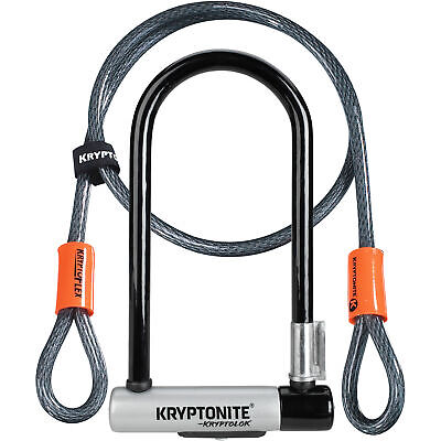 Kryptonite Kryptolok Bike Cycle Bicycle U-Lock With 4 Foot Kryptoflex Cable • 32.70£