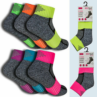 Ladies Womens Sports Ankle Trainer Liner 3 6 12 Pairs Socks Reflective Size 4-8 • 4.99£