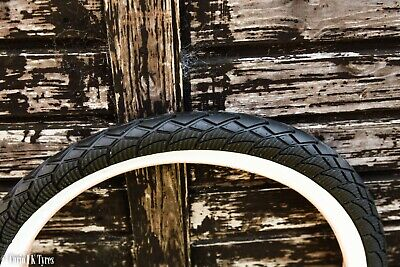 2 Of COLOURED STREET BMX TYRES TIRES BLACK WHITEWALL 20 X 2.30 LS215  • 15.49£