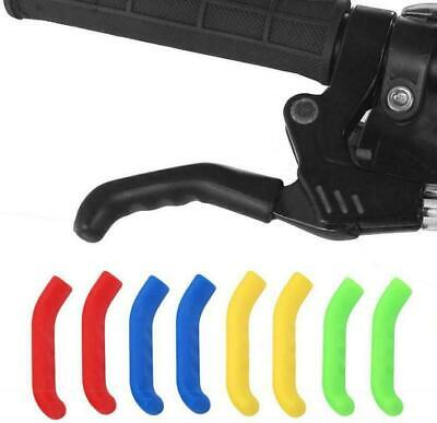 Pair Of Coloured Brake Lever Grips Protectors Covers Mountain Bike Bmx Mtb Fixie • 2.69£