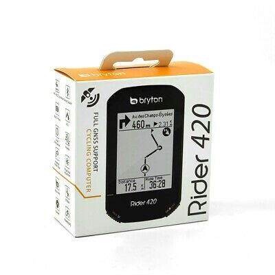Bryton Rider 420E Wireless GPS GNSS / ANT+ BLE Bike Bicycle Cycling Computer  • 92.11£