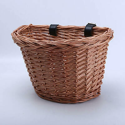 Ladies Bicycle Bike Front Wicker Wire Shopping Basket Luggage Handlebar (L) • 11.19£