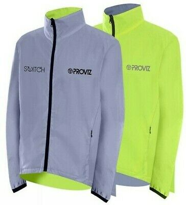 Proviz, Switch - Reversible Jacket Mens, High Visibility, Yellow/Silver (Small) • 54.97£