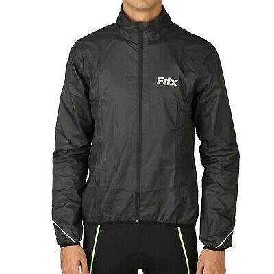 FDX Waterproof/Breathable Lightweight Cycling Jacket Reflective Running Jacket • 18.65£